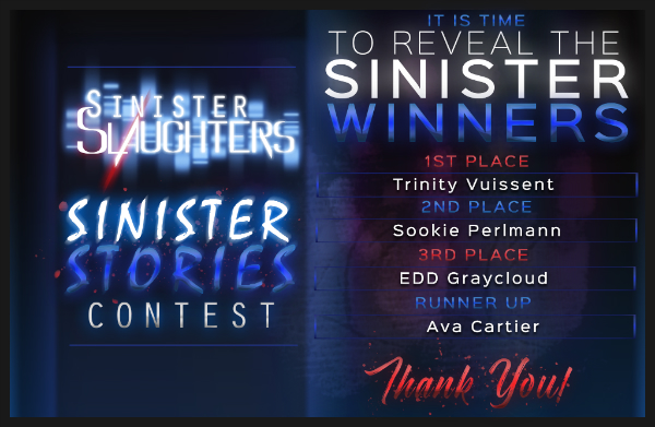 Sinister Stories Contest Winners