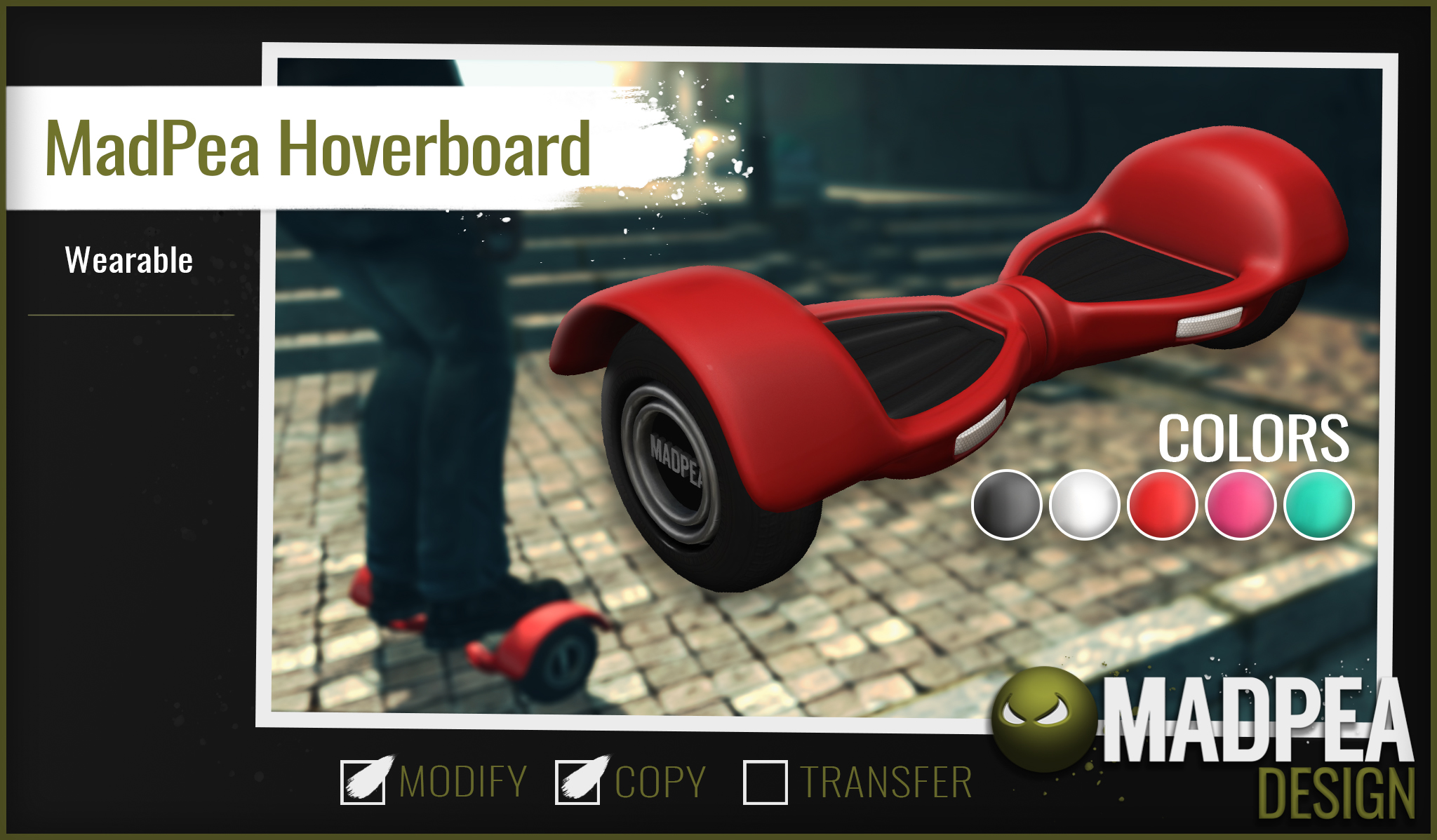 Introducing the MadPea Hoverboard!