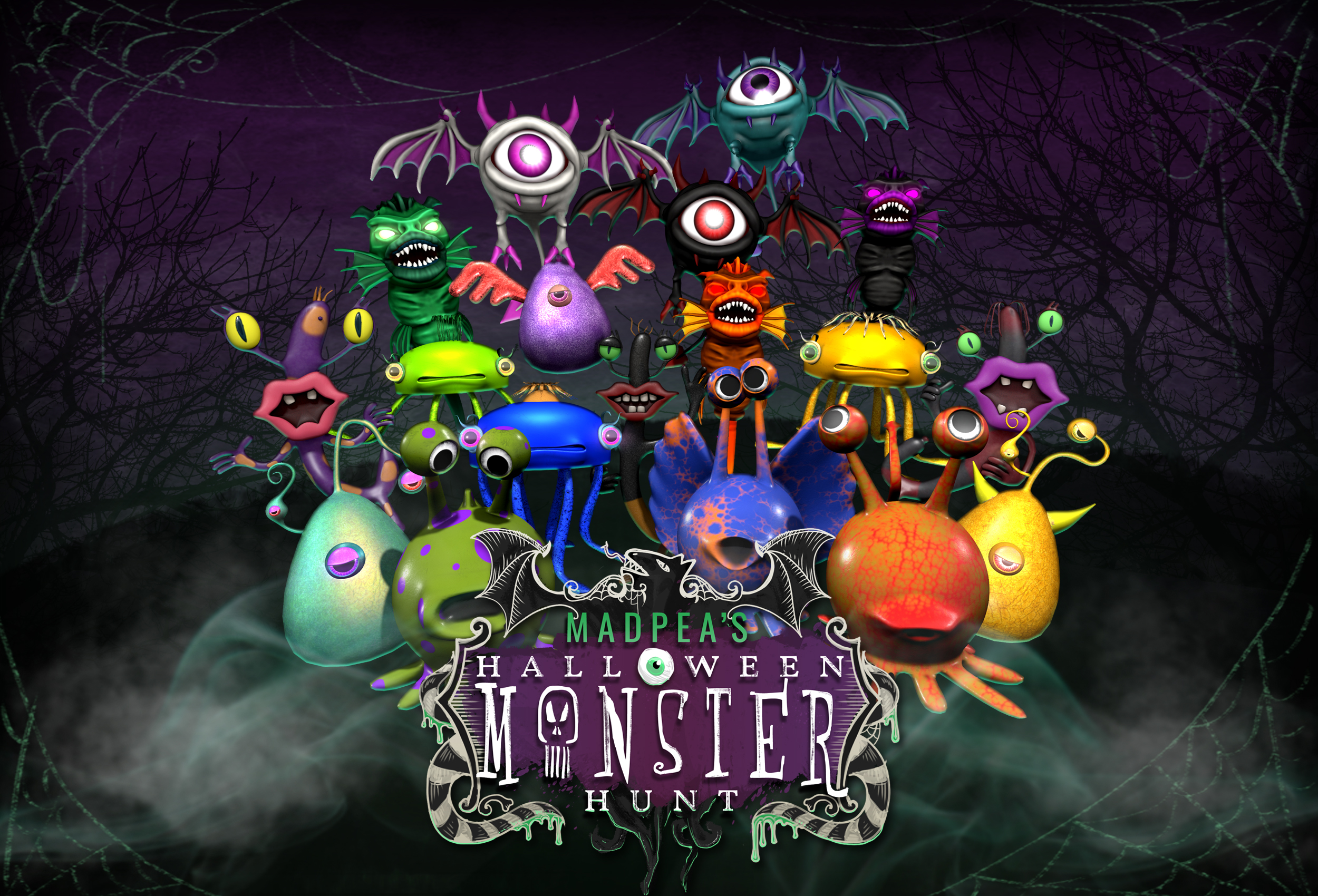 MadPea Monster Hunt Hosts – Hiding for Hunters' Happiness!