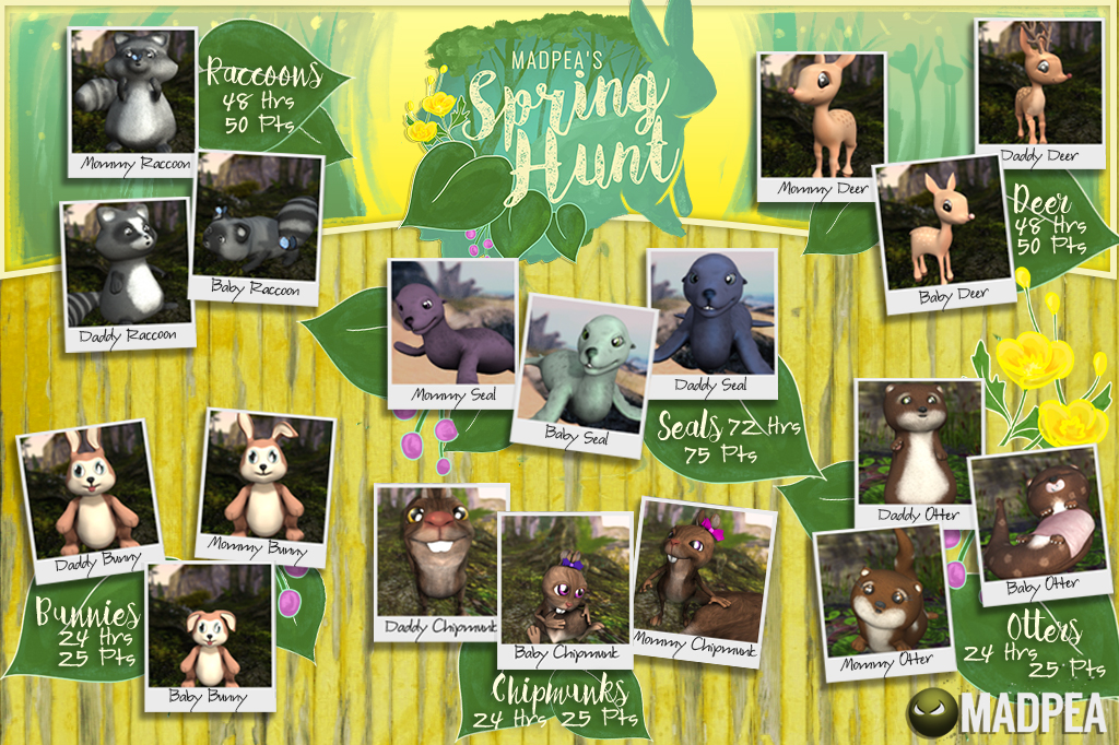 MadPea's Spring Hunt – Photograph all the Adorable Animals!