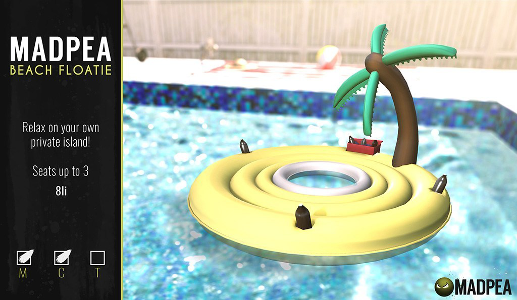 MadPea Beach Floatie @FaMESHed!
