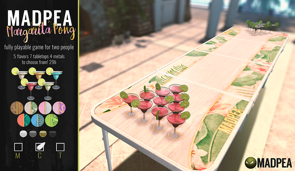 MadPea Margarita Pong (NOW @MAD CITY STORE)!