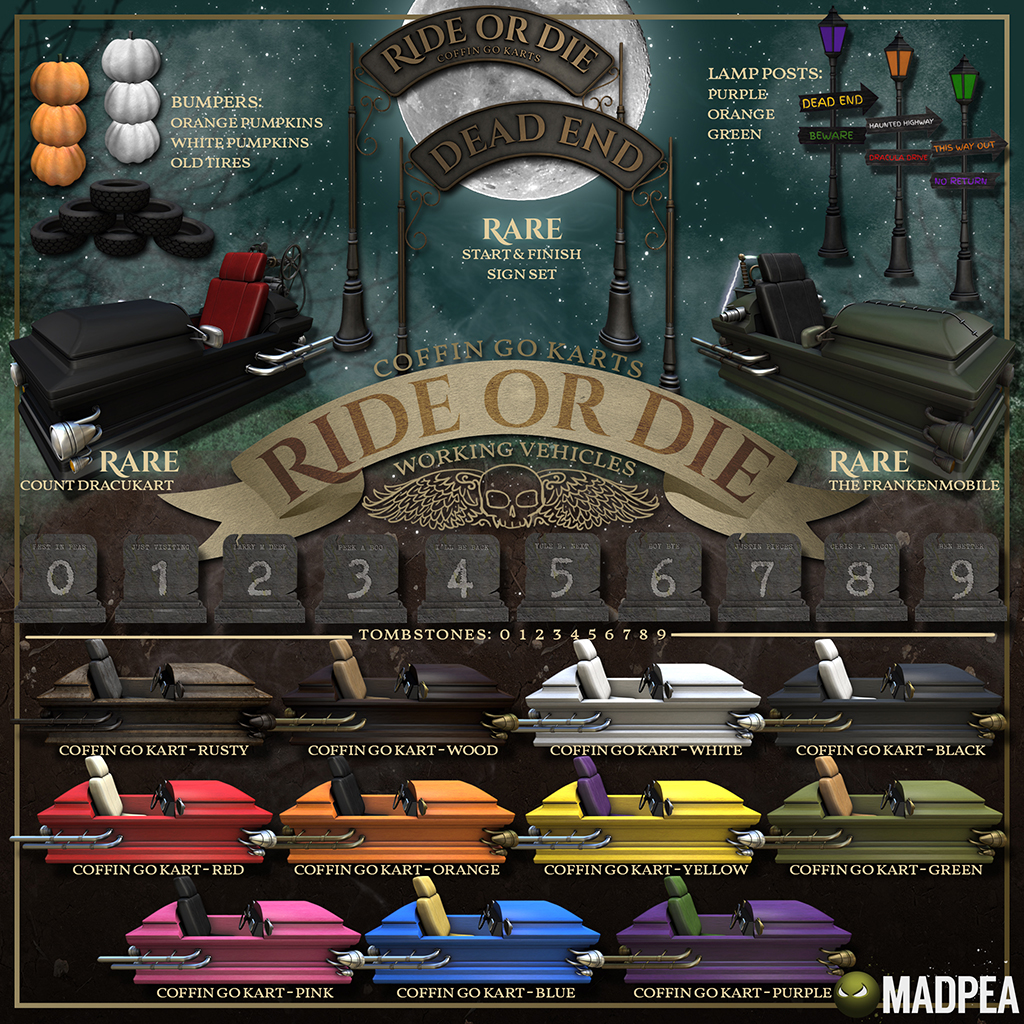 MadPea's Ride Or Die Coffin Go Karts @Man Cave!