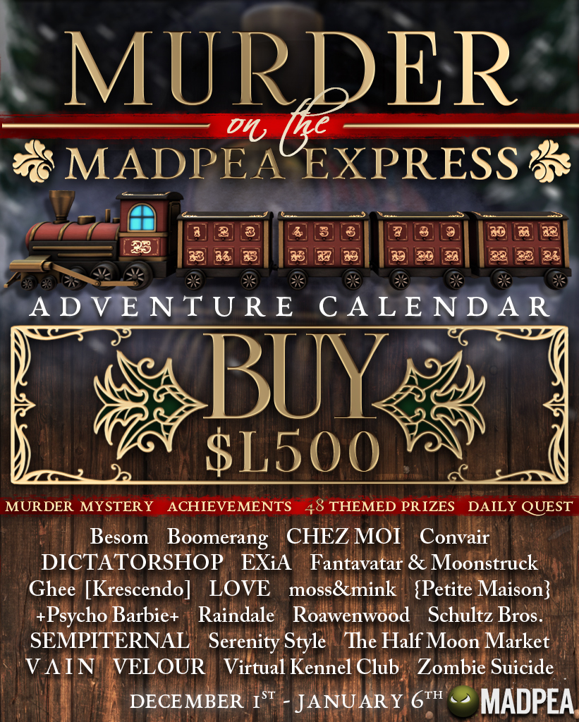 Murder on the MadPea Express Adventure Calendar